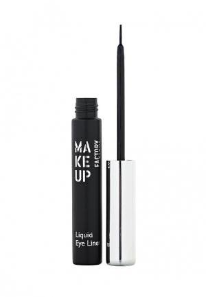 Подводка для глаз Make Up Factory Жидкая Liquid Eye Liner тон 06 синий. Цвет: синий