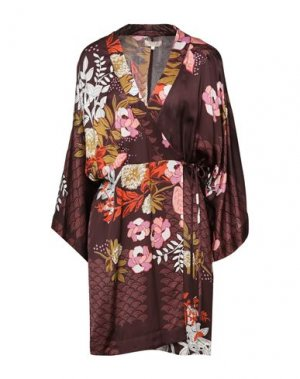 Короткое платье byTIMO. Цвет: темно-коричневый