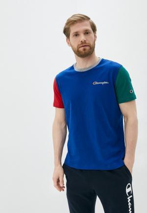 Футболка Champion ROCHESTER1919 Crewneck T-Shirt. Цвет: синий