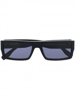Солнцезащитные очки-авиаторы Mr. Karl Icon Lagerfeld. Цвет: черный