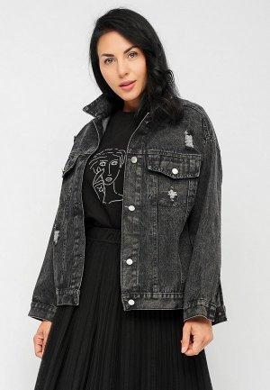 Куртка джинсовая Bellart. Цвет: серый