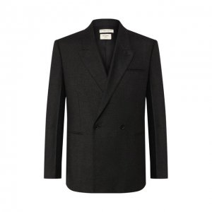 Кашемировый пиджак Bottega Veneta. Цвет: серый