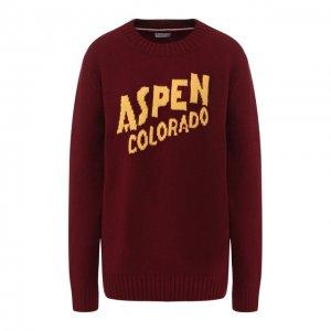 Пуловер из смеси шерсти и кашемира Moncler. Цвет: красный