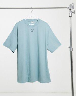 Синее платье-футболка -Синий Puma