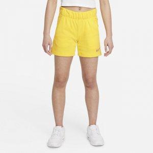 Шорты из ткани френч терри для девочек школьного возраста Sportswear - Желтый Nike