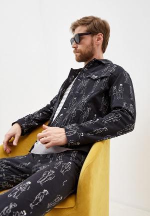 Куртка джинсовая Moschino Couture. Цвет: черный