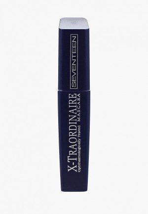 Тушь для ресниц Seventeen X-TRAORDINARE MASCARA удлинения, подкручивания, увеличения объема т.01 черная, 12 мл. Цвет: черный