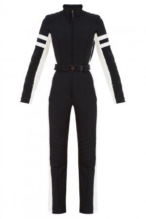Черный лыжный комбинезон Cat Bogner. Цвет: черный