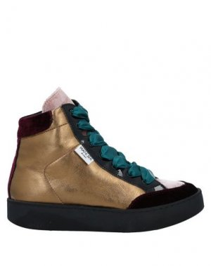 Высокие кеды и кроссовки PIANURASTUDIO. Цвет: красно-коричневый