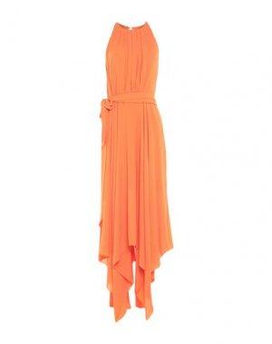 Длинное платье HALSTON. Цвет: оранжевый