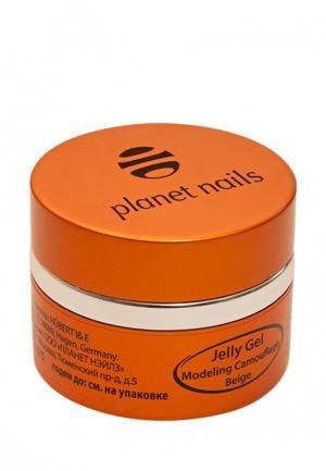 Гель-лак для ногтей Planet Nails 11074  Modeling Camouflage Beige Jelly Gel камуфлирующий, бежевый. Цвет: прозрачный