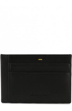 Кожаный футляр для кредитных карт Canali. Цвет: чёрный