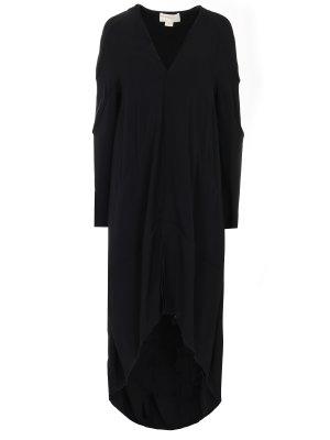 Асимметричное пальто Antonio Berardi. Цвет: черный