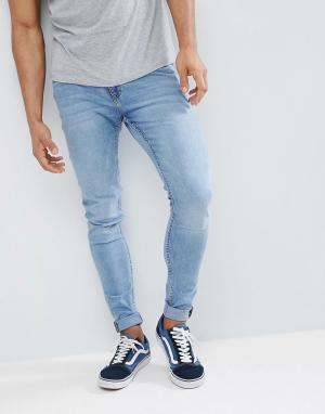 Светло-синие супероблегающие джинсы Him-Синий Cheap Monday