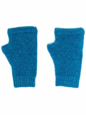 Трикотажные перчатки-митенки Stone Island Shadow Project. Цвет: синий