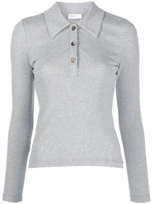 Рубашка поло с длинными рукавами Rosetta Getty. Цвет: серый