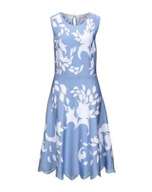 Платье до колена CAROLINA HERRERA. Цвет: небесно-голубой