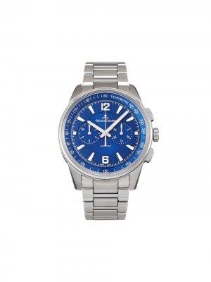 Наручные часы Polaris Chronograph pre-owned 42 мм 2020-го года Jaeger-LeCoultre. Цвет: синий