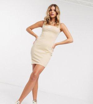 Бежевое платье мини в рубчик эксклюзивно для ASOS-Серый Puma