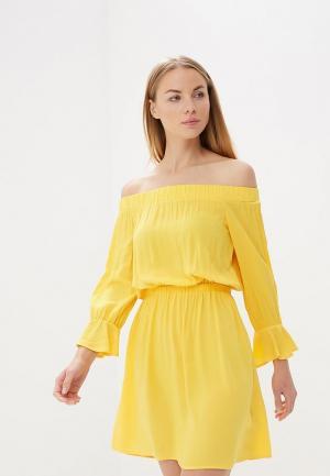 Платье Befree BE031EWBDPC0. Цвет: желтый