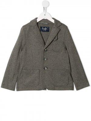 Приталенный однобортный пиджак Il Gufo. Цвет: серый