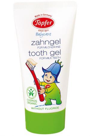 Детская зубная паста, 50 мл Topfer. Цвет: белый