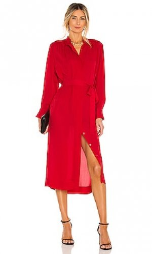 Платье Rebecca Taylor. Цвет: красный