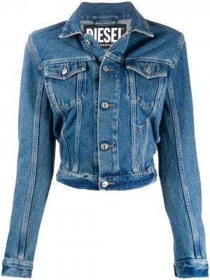 Приталенная джинсовая куртка Diesel. Цвет: синий