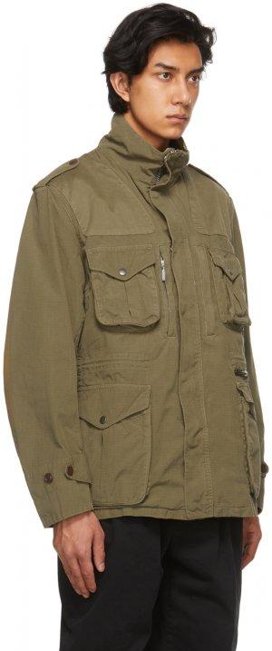 Khaki Overdyed Corbridge Casual Jacket Barbour. Цвет: milit olive