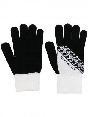 Шерстяные перчатки с логотипом Givenchy. Цвет: черный