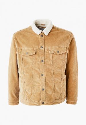Куртка утепленная Jack & Jones. Цвет: коричневый