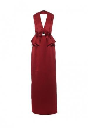 Платье Lost Ink THE LABEL - VESTA MAXI DRESS. Цвет: бордовый