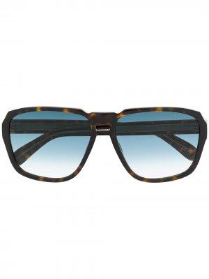 Очки в оправе черепаховой расцветки Givenchy Eyewear. Цвет: коричневый