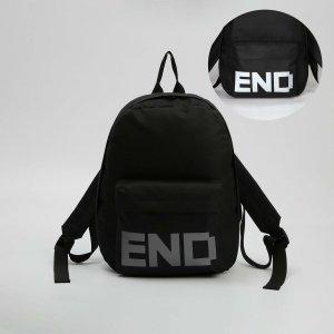 Рюкзак молодёжный end, 29*12*37, отд на молнии, н/карман, светоотр. ленты, чёрный NAZAMOK