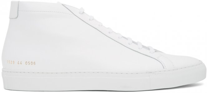 White Original Achilles Mid Sneakers Common Projects. Цвет: 0506 white