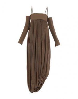 Длинное платье CELINE. Цвет: хаки