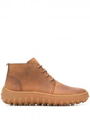 Ботинки Ground на шнуровке Camper. Цвет: коричневый