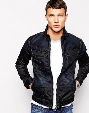 Узкая джинсовая куртка G Star New Riley 3D G-Star. Цвет: состаренный индиго