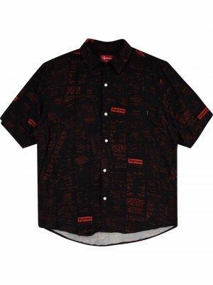 Рубашка Receipts с короткими рукавами Supreme. Цвет: черный