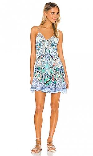 Мини платье Camilla. Цвет: синий