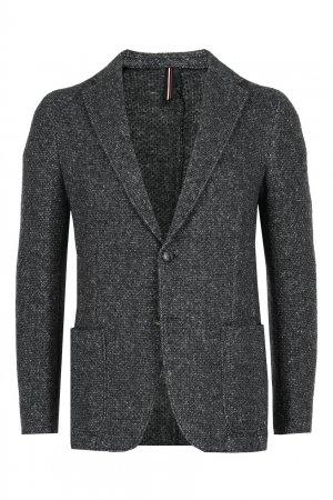 Однобортный пиджак из серой шерсти Strellson. Цвет: серый
