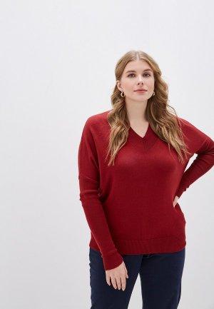 Пуловер MaryTes. Цвет: бордовый