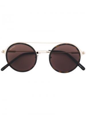 Round shaped sunglasses Bulgari. Цвет: металлический