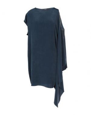 Короткое платье CUT25 by YIGAL AZROUËL. Цвет: темно-синий