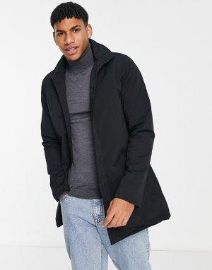 Черная куртка-макинтош полностью на подкладке и с воротником-стойкой -Черный цвет French Connection