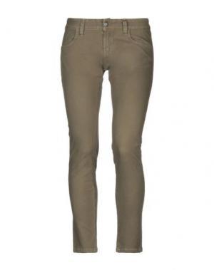 Повседневные брюки TROU AUX BICHES. Цвет: зеленый-милитари