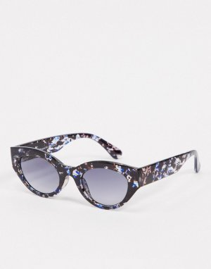 Узкие черепаховые солнцезащитные очки в стиле ретро -Голубой AJ Morgan
