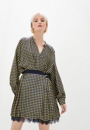 Платье Ermanno Scervino. Цвет: синий