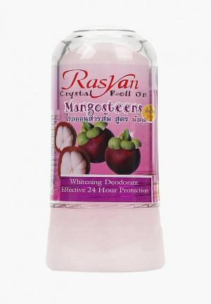 Дезодорант Ras Yan кристалл с мангостином. Цвет: прозрачный