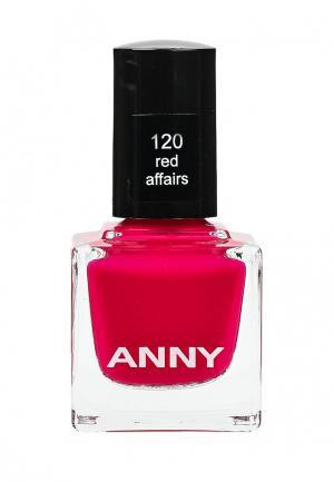 Лак для ногтей Anny тон 120. Цвет: красный